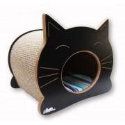 Nicho Casinha Cama Toca para gato - Happy Cat - Preto - Bora Bora Laranja