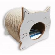 Nicho Casinha Cama Toca para gato - Happy Cat  - Branco - Bora Bora Laranja