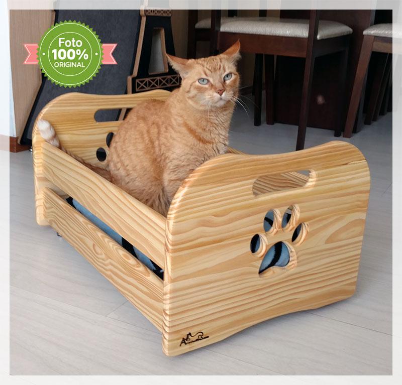 Cama Box para gatos Linha Pine Wood
