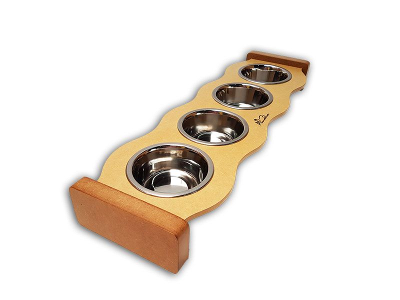 Comedouro Inox para Gatos - Cat Food Four
