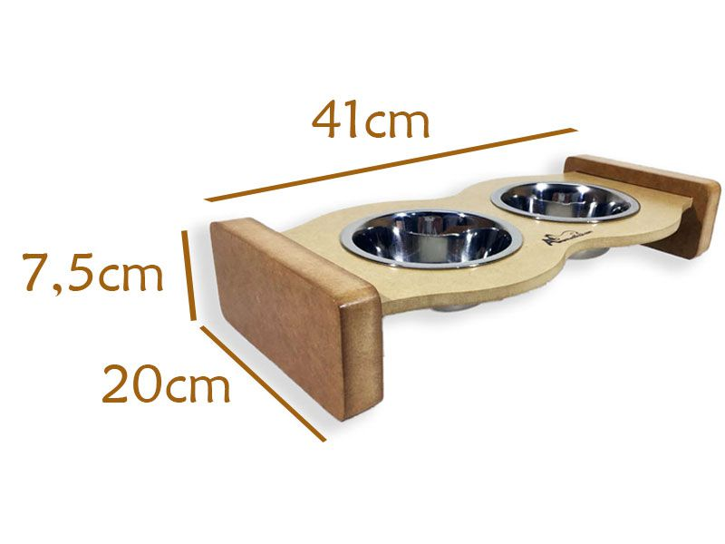 Comedouro Inox para Gatos - Cat Food - Preto