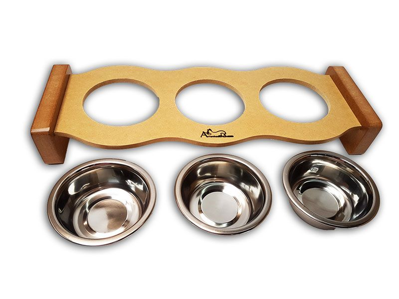 Comedouro Inox para Gatos - Cat Food Three