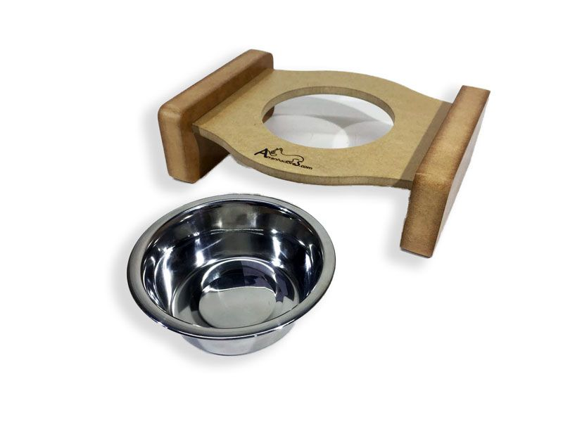 Comedouro Inox para Gatos - Cat Meal