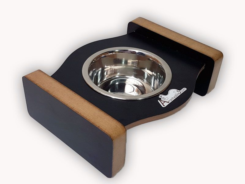 Comedouro Inox para Gatos - Cat Meal - Preto