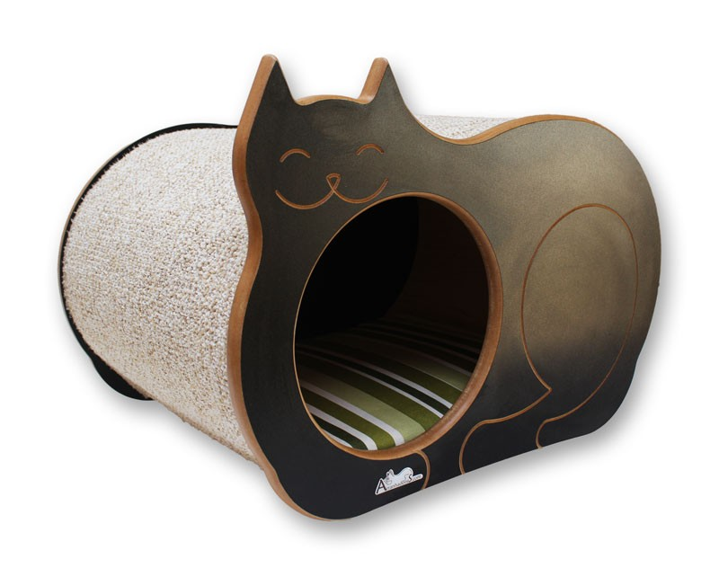 Nicho Casinha Cama Toca para gato - Dream´s  Cat  - Preto - Guarapua Verde