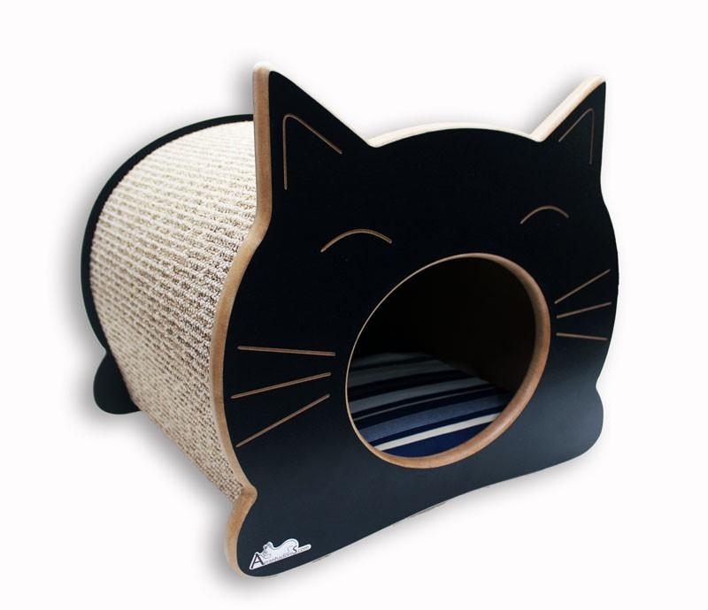 Nicho Casinha Cama Toca para gato - Happy Cat - Preto - Illimani Marinho