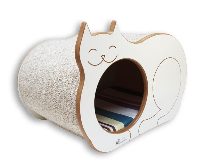 Nicho Casinha Cama Toca para gato - Dream´s  Cat  - Branco - Itacolomi Vinho