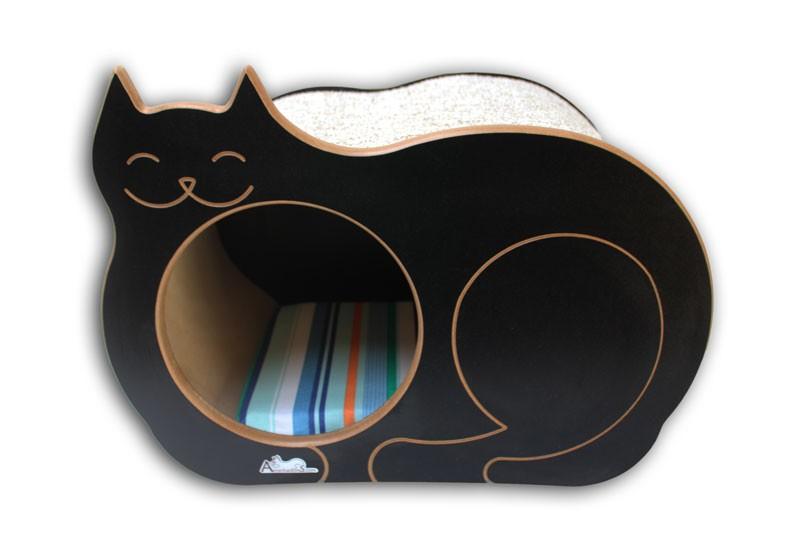 Nicho Casinha Cama Toca para gato - Dream´s  Cat  - Preto - Bora Bora Laranja
