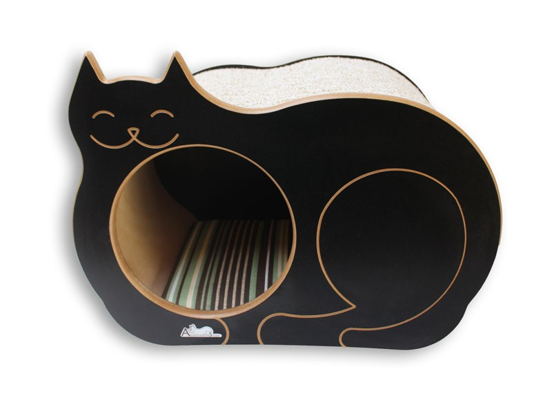 Nicho Casinha Cama Toca para gato - Dream´s  Cat  - Preto - Ilha Bela Marrom