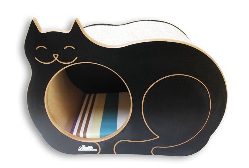 Nicho Casinha Cama Toca para gato - Dream´s  Cat  - Preto - Itacolomi Vinho