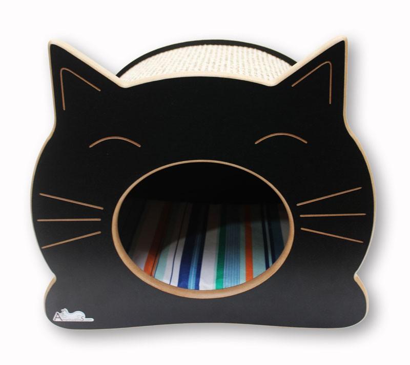 Nicho Casinha Cama Toca para gato - Happy Cat - Preto