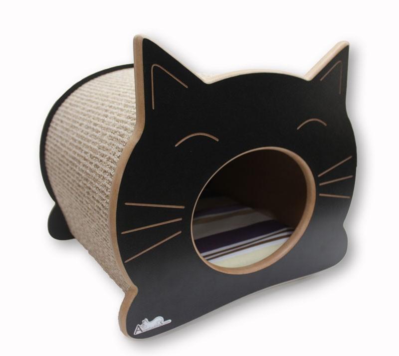 Nicho Casinha Cama Toca para gato - Happy Cat - Preto - Itacolomi Vinho