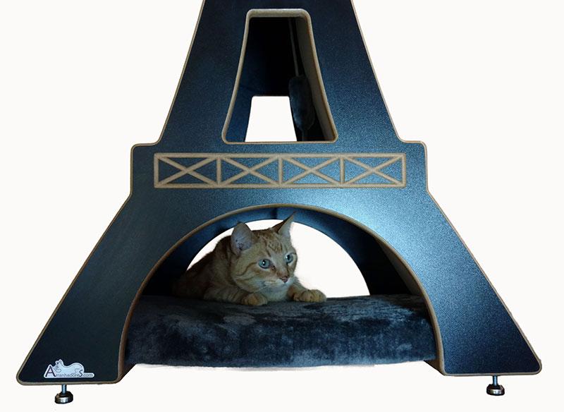 Nicho para gatos Torre Eiffel linha Monumental