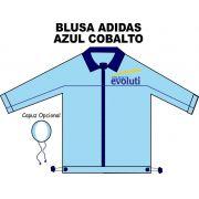 Blusa Helanca Gaucha Adidas Aberta Azul Cobalto Evoluti