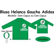 Blusa Helanca Gaucha Adidas Aberta Pindorama