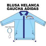 Blusa Helanca Gaucha Adidas Aberta Prosseguir