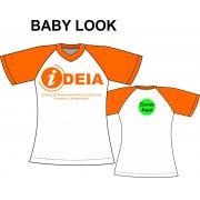 Camiseta Baby Look Branca Ideia