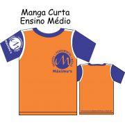 Camiseta Manga Curta Ensíno Médio Máximus