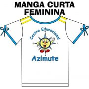 Camiseta Manga Curta Feminina Azimute