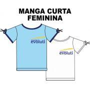 Camiseta Manga Curta Feminina Evoluti