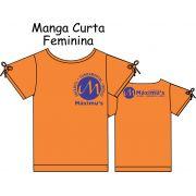 Camiseta Manga Curta Feminina Ed. Infantil ao Fundamental Máximus