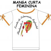 Camiseta Manga Curta Feminina Pintando o 7