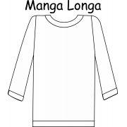 Camiseta Manga Longa Branca Liso
