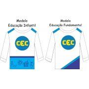 Camiseta Manga Longa CEC Malha 100% Algodão