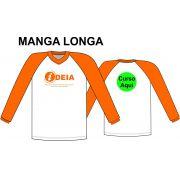 Camiseta Manga Longa Branca Ideia
