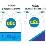 Camiseta Sem Manga CEC  Malha 100% Algodão