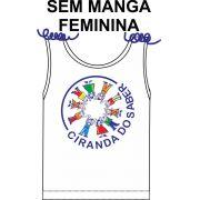 Camiseta Sem Manga Feminina Ciranda do Saber