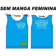 Camiseta Sem Manga Feminina Eccos