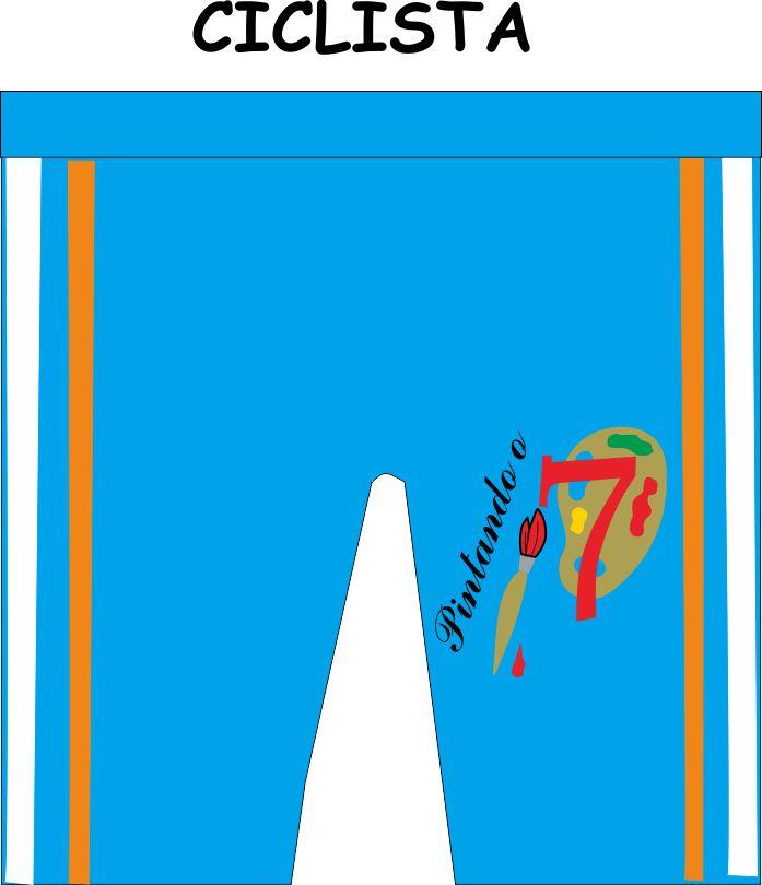 Bermuda Ciclista Pintando o 7