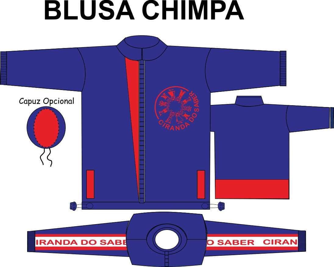 Blusa Chimpa Ciranda do Saber