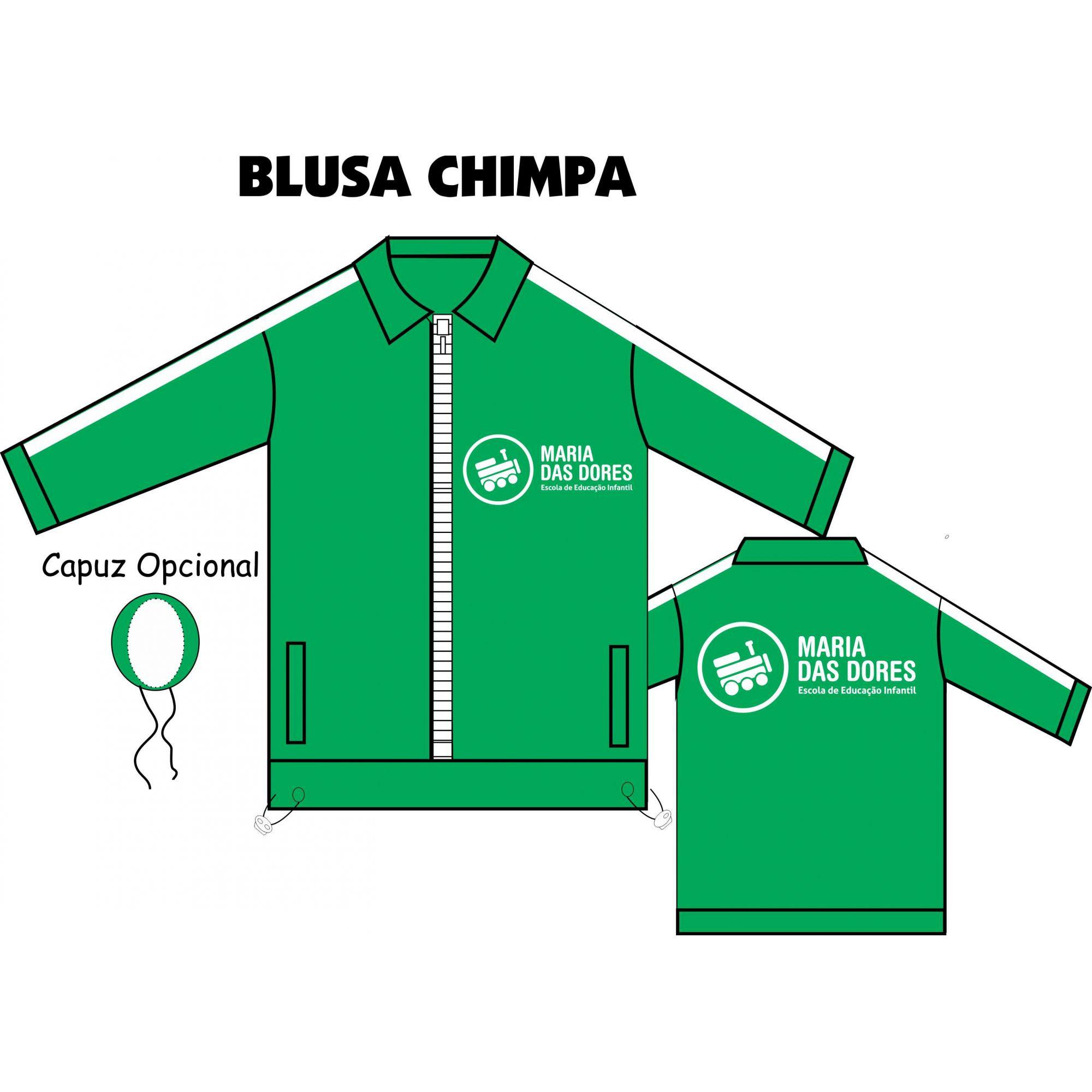Blusa Chimpa Fechado S/ Capuz Maria das Dores