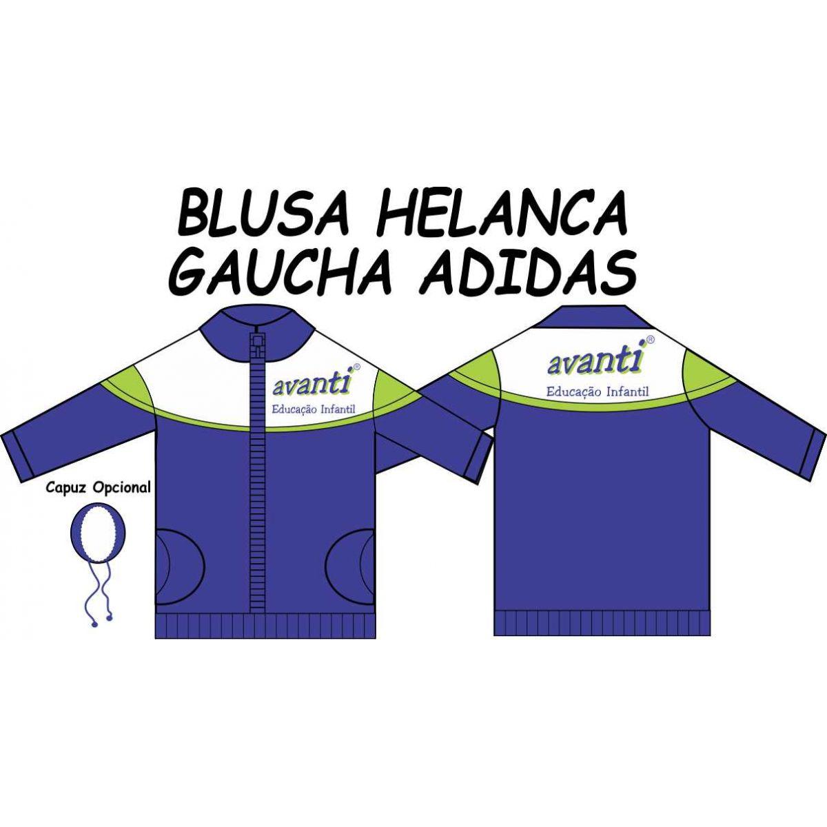 Blusa Helanca Gaucha Adidas Aberta Avanti
