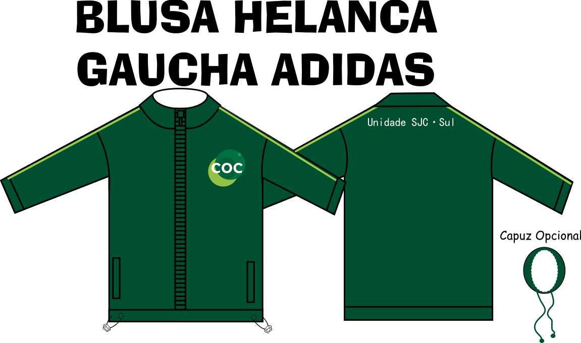 Blusa Helanca Gaucha Adidas Aberta COC - Zona Sul