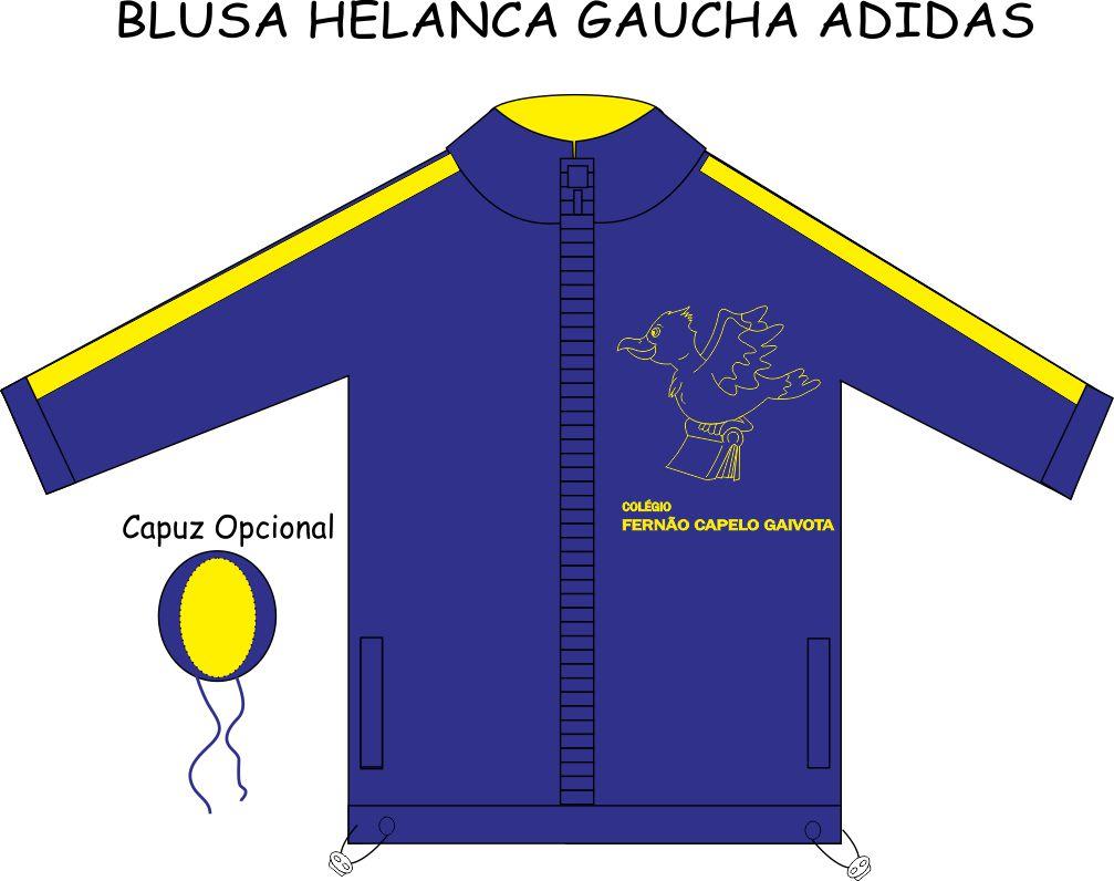 Blusa Helanca Gaucha Adidas Aberta Fernão Capelo Gaivota
