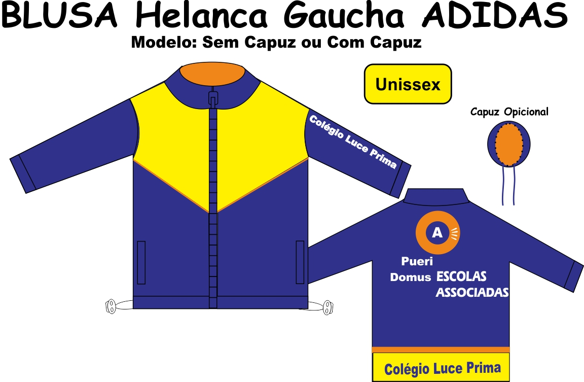 Blusa Helanca Gaucha Adidas Aberta Luce Prima