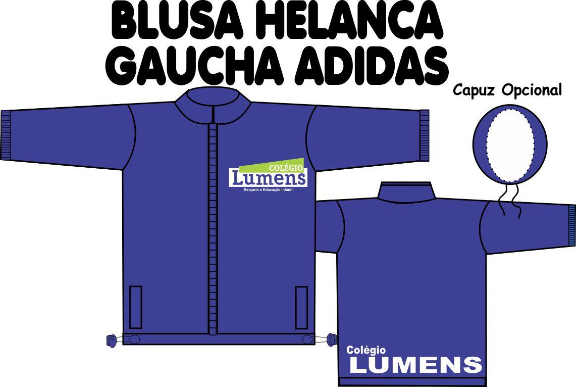 Blusa Helanca Gaucha Adidas Aberta Lumens