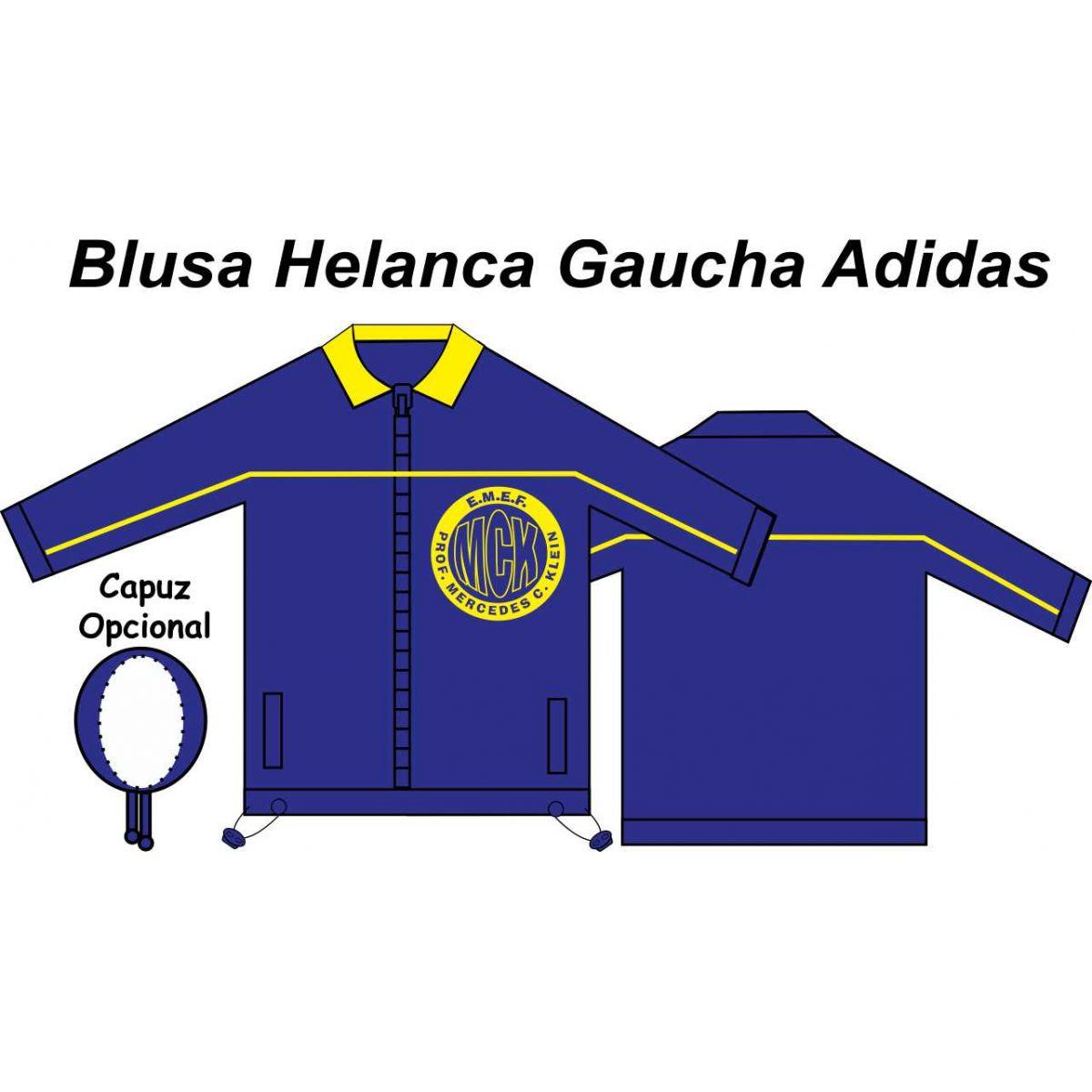 Blusa Helanca Gaucha Adidas Aberta Mercedes