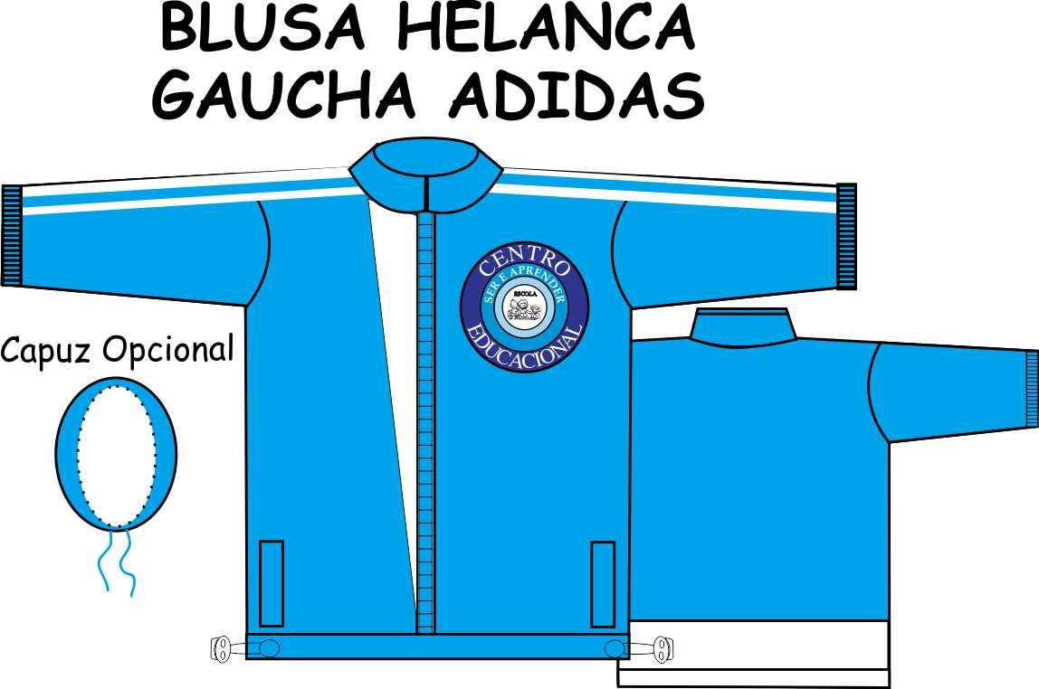 Blusa Helanca Gaucha Adidas Aberta Ser e Aprender