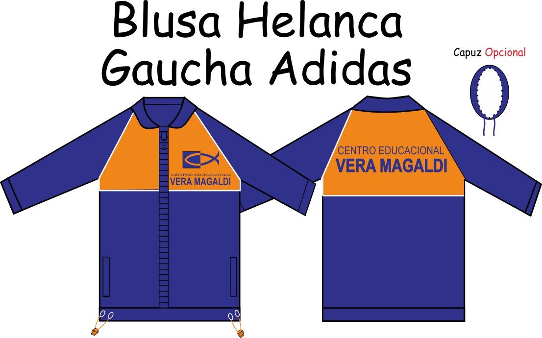 Blusa Helanca Gaucha Adidas Aberta Vera Magaldi