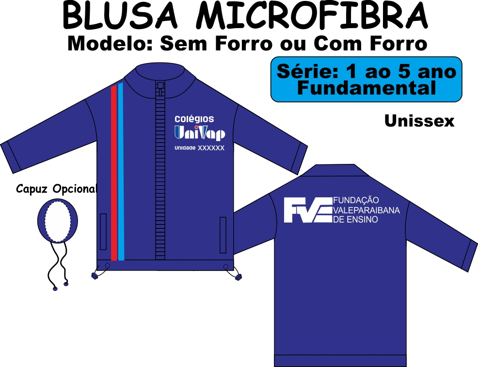 Blusa Microfibra Univap 1/5
