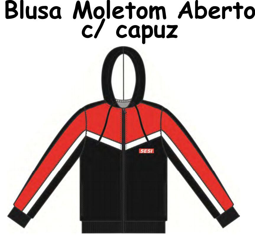Blusa Moletom Aberto C/capuz Sesi