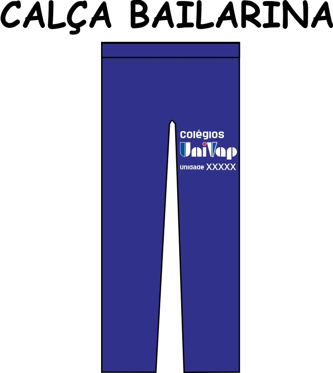 Calça Bailarina Univap  6 ao 9 Fund - Médio - Técnico