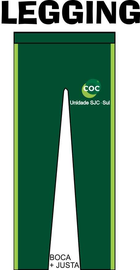 Calça Legging COC - Zona Sul