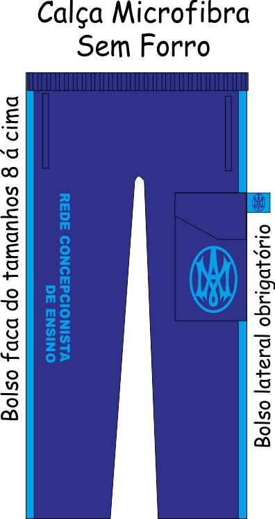 Calça Microfibra Sem Forro Unissex Rede Concepcionista