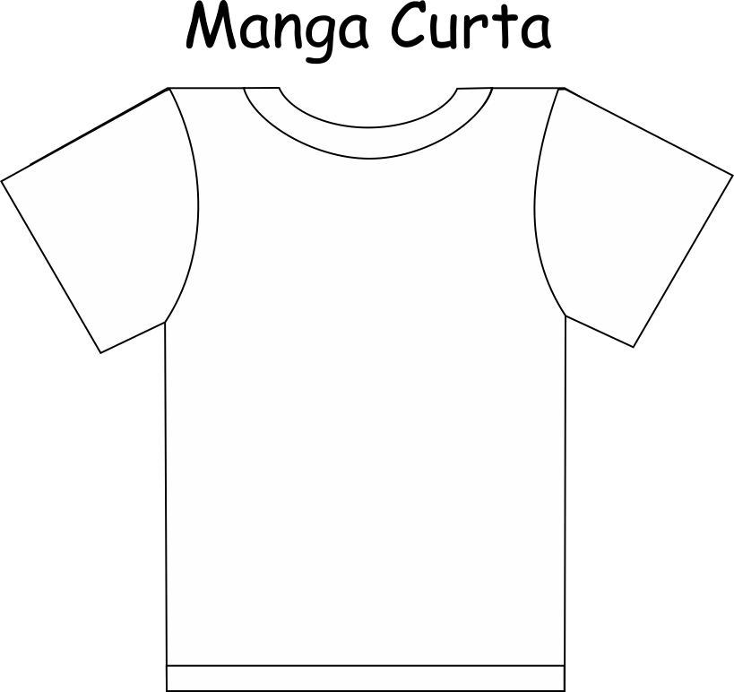 Camiseta Manga Curta Branca Liso