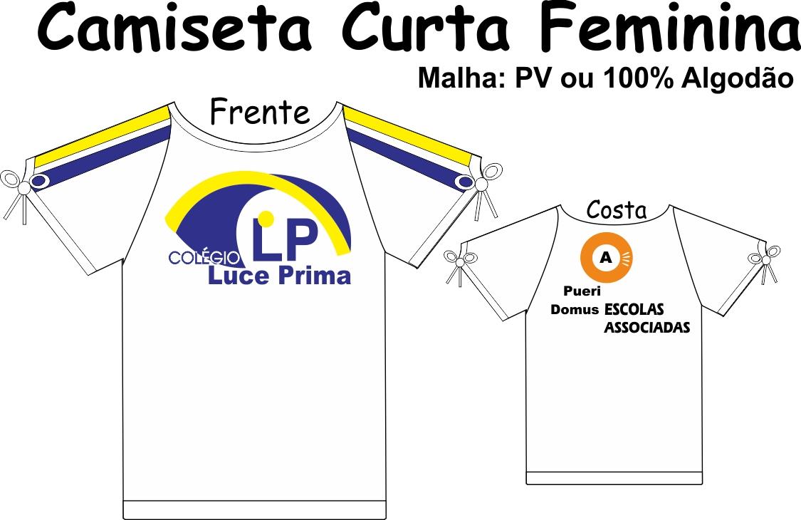 Camiseta Manga Curta Feminina Luce Prima
